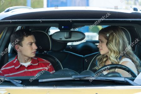 Keir Gilchrist as Sam Gardner and Jenna Boyd as Paige