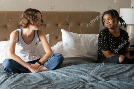 Brigette Lundy-Paine as Casey Gardner and Christina Offley as Sharice