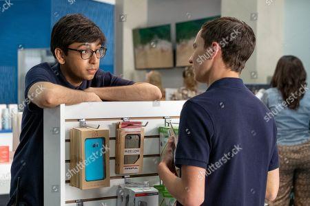 Nik Dodani as Zahid and Keir Gilchrist as Sam Gardner