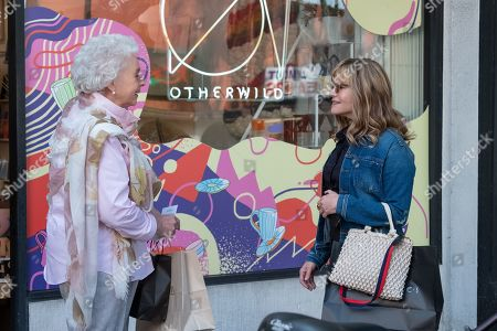 Stock Picture of Jenny O'Hara as Older Woman (Elsa's mother) and Jennifer Jason Leigh as Elsa Gardner