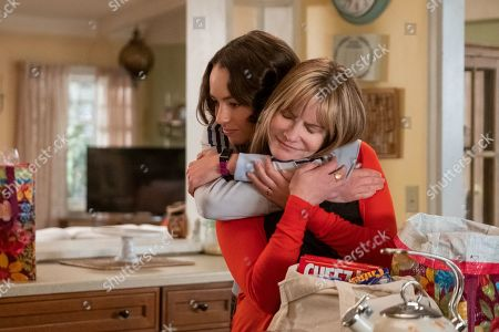 Brigette Lundy-Paine as Casey Gardner and Jennifer Jason Leigh as Elsa Gardner
