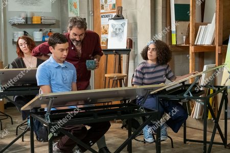 Keir Gilchrist as Sam Gardner, Eric McCormack as Professor Shinerock and Kimia Behpoornia as Abby