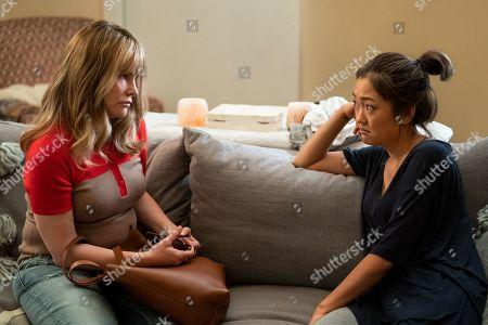 Jennifer Jason Leigh as Elsa Gardner and Amy Okuda as Julia Sasaki