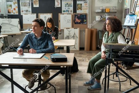 Keir Gilchrist as Sam Gardner and Kimia Behpoornia as Abby