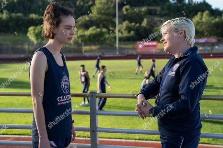 Brigette Lundy-Paine as Casey Gardner and Kimmy Gatewood as Coach Crowley