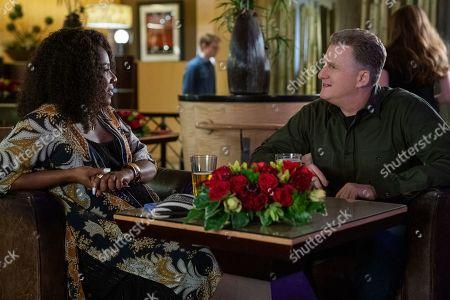 Angel Laketa Moore as Megan and Michael Rapaport as Doug Gardner