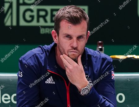 Stock Picture of Great Britain's  captain Leon Smith with a look of dejection during Doubles match against Spain