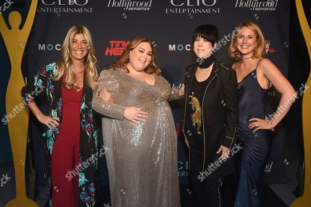 Stock Photo of Nicole Purcell, Chrissy Metz, Diane Warren, Ashley Falls. From left, Clio Entertainment President, Nicole Purcell, Chrissy Metz, Diane Warren, and Ashley Falls, Clio Entertainment Director, appear at the 2019 Clio Entertainment Awards, at the Dolby Theatre in Los Angeles