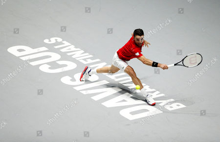 Roberto Bautista Agut of Spain in action versus Canada