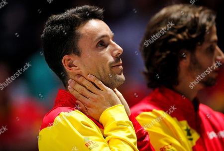 Stock Photo of Roberto Bautista Agut of Spain celebrates versus Canada