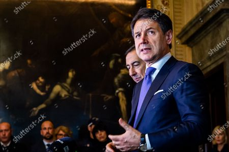 Editorial photo of Italian Prime Minister Giuseppe Conte visit to Milan, Italy - 21 Nov 2019