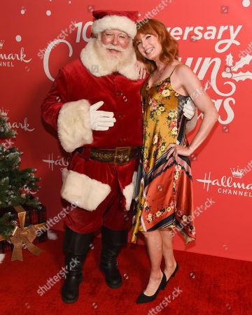 Alicia Witt and Santa Claus
