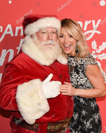 Debbie Matenopoulos and Santa Claus