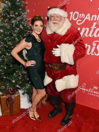 Jen Lilley and Santa Claus