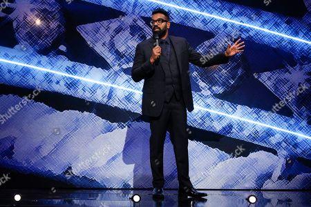 Romesh Ranganathan on stage at the Royal Variety Performance 2019
