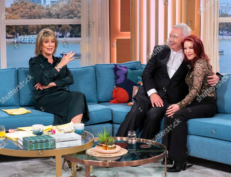 Eamonn Holmes and Ruth Langsford with Priscilla Presley