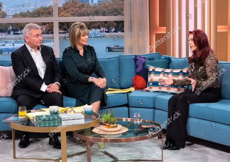 Stock Picture of Eamonn Holmes and Ruth Langsford with Priscilla Presley