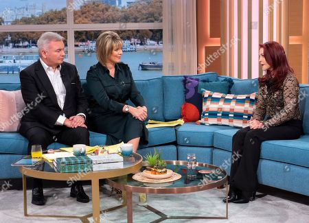 Stock Photo of Eamonn Holmes and Ruth Langsford with Priscilla Presley