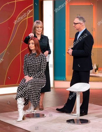 Ruth Langsford and Josh Wood with This Morning Model - Amber