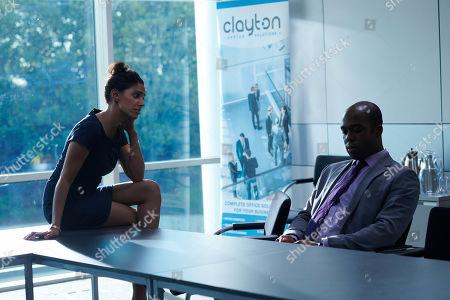Stock Photo of Ritu Arya as Becky and Ken Nwosu as Thomas