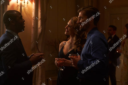 Ken Nwosu as Thomas, Elena Saurel as Tanya Baxter and Gwilym Lee as Mark Baxter