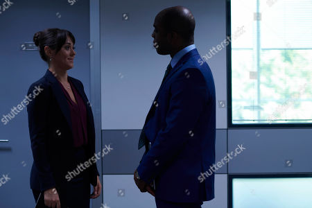 Susannah Fielding as Isobel and Ken Nwosu as Thomas