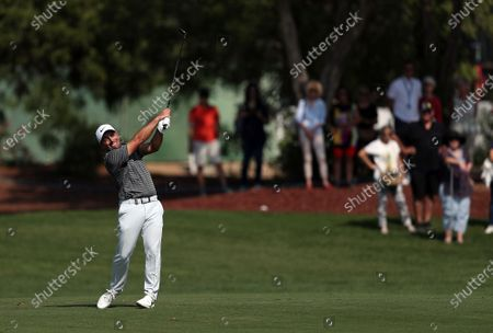 Francesco Molinari of Italy in action during the second round of the DP World Tour Championship, European Tour, golf tournament 2019 at Jumeirah Golf Estates in Dubai, United Arab Emirates, 22 November 2019.