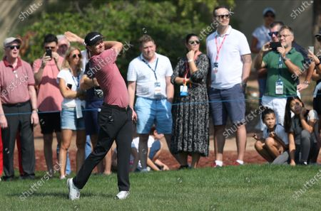 Justin Rose of England in action during the second round of the DP World Tour Championship, European Tour, golf tournament 2019 at Jumeirah Golf Estates in Dubai, United Arab Emirates, 22 November 2019.