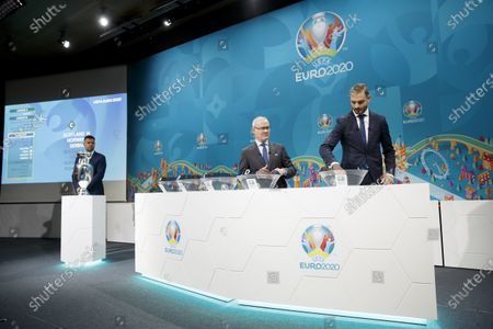 Editorial picture of UEFA Euro 2020 play-off draw, Nyon, Switzerland - 22 Nov 2019