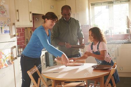 Alexandra Roach as Jess, Ken Nwosu as Thomas and Daisy Boo Bradford as Millie
