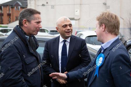 Sajid Javid with Peterborough MP Candidate Paul Bristow and Jonathan Djanogly MP Candidate for Huntingdon.