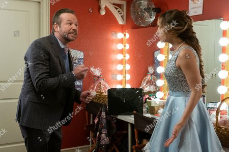 Stock Picture of Dallas Roberts as Bob Armstrong and Debby Ryan as Patty Bladell