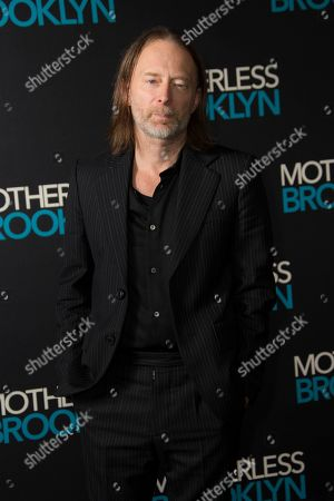 Thom Yorke poses for photographers upon arrival at a photo call for 'Motherless Brooklyn', ahead of a Q&A and Jazz performance at Jack Solomons Club in Soho, central London