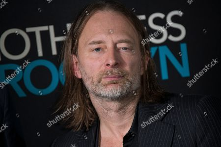 Stock Image of Thom Yorke poses for photographers upon arrival at a photo call for 'Motherless Brooklyn', ahead of a Q&A and Jazz performance at Jack Solomons Club in Soho, central London
