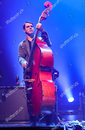 Stock Photo of Bob Crawford with The Avett Brothers perform at the Fox Theatre, in Atlanta