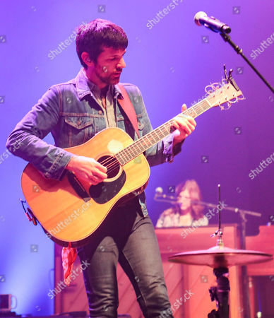 Stock Picture of Seth Avett with The Avett Brothers perform at the Fox Theatre, in Atlanta