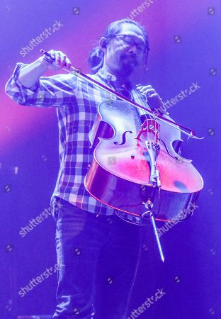 Joe Kwon with The Avett Brothers perform at the Fox Theatre, in Atlanta
