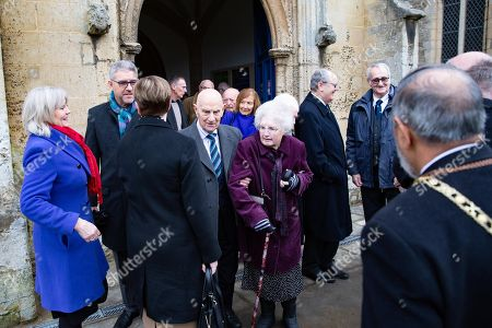 Editorial image of Funeral of Lord Brian Mawhinney, Oundle, UK - 22 Nov 2019