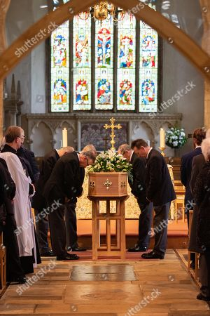 Stock Photo of The Funeral of Lord Brian Mawhinney