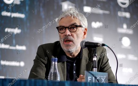Pedro Costa attends a press conference on his movie 'Vitalina Varela' at the 57th edition of the Gijon International Film Festival, in Gijon, Asturias, northern Spain, 22 November 2019. The movie competes in the official section of the festival, which runs from 15 to 23 November.