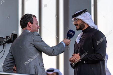 HRH Shaikh Isa Bin SalmanBin Hamad Al Khalifa, is interviewed by Nick Luck, Rashed Equestrian and Horse Race Club, Manama, Bahrain.