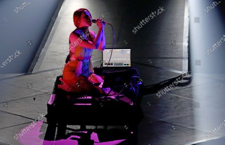 Stock Photo of Holly Herndon performs during the International Music Award (IMA) 2019 in Berlin, Germany, 22 November 2019. The IMA recognizes the efforts of artists to share their work with a statement independently of the commercial success.