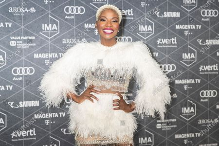 Nikeata Thompson arrives at the red carpet of the International Music Award (IMA) 2019 in Berlin, Germany, 22 November 2019. The IMA recognizes the efforts of artists to share their work with a statement independently of the commercial success.
