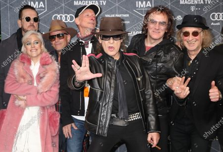 Udo Lindenberg (C) arrives at the red carpet of the International Music Award (IMA) 2019 in Berlin, Germany, 22 November 2019. The IMA recognizes the efforts of artists to share their work with a statement independently of the commercial success.