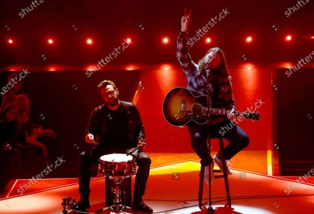 Stock Picture of Rea Garvey (R) performs during the International Music Award (IMA) 2019 in Berlin, Germany, 22 November 2019. The IMA recognizes the efforts of artists to share their work with a statement independently of the commercial success.