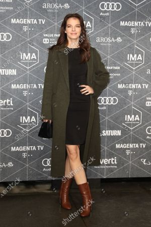 Yvonne Catterfeld arrives at the red carpet of the International Music Award (IMA) 2019 in Berlin, Germany, 22 November 2019. The IMA recognizes the efforts of artists to share their work with a statement independently of the commercial success.
