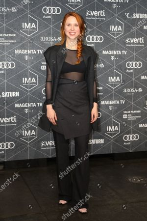 Holly Herndon arrives at the red carpet of the International Music Award (IMA) 2019 in Berlin, Germany, 22 November 2019. The IMA recognizes the efforts of artists to share their work with a statement independently of the commercial success.