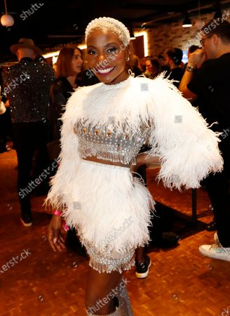 Nikeata Thompson attends the after party of the International Music Award (IMA) 2019 in Berlin, Germany, 22 November 2019. The IMA recognizes the efforts of artists to share their work with a statement independently of the commercial success.