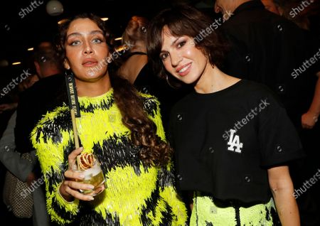 Stock Image of Polish-born German actress Natalia Avelon (R) and guest attend the after party of the International Music Award (IMA) 2019 in Berlin, Germany, 22 November 2019. The IMA recognizes the efforts of artists to share their work with a statement independently of the commercial success.