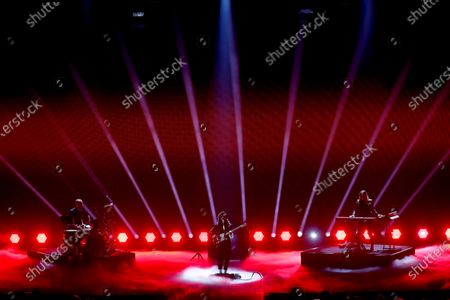 Stock Image of British singer-singwriter Anna Calvi (C) performs during the International Music Award (IMA) 2019 in Berlin, Germany, 22 November 2019. The IMA recognizes the efforts of artists to share their work with a statement independently of the commercial success.
